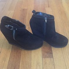 Dolce Vita boot wedges Worn once! In perfect condition. Super cute! PRICE IS FIRM. Low ball offers will be ignored. Dolce Vita Shoes Wedges