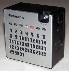 Vintage Panasonic Calendar AM Radio, Model No. R-77, Takes 2 AA Batteries, Made in Japan.