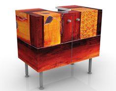 #Waschbeckenunterschrank - Memory - #Badschrank #Orange #Rot #orientalisch #Wohnen #Orient #1001 #Nacht