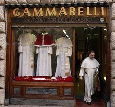 "Papal tailors ready no matter what size the new pope is, shoes as well. They get dressed in the ""Room of Tears""."