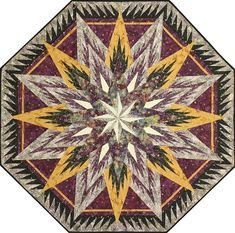 Feathered Snowflake Tree Skirt, Quiltworx.com, Made by Quiltworx.com