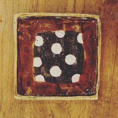 田中将則さんの飴釉水玉角皿 #織部 #織部下北沢店 #陶器 #器 #ceramics #pottery #clay #craft #handmade #oribe #tableware #porcelain