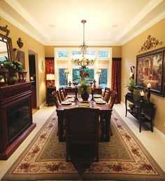 tuscan style dining room | home decor | pinterest | round mirrors