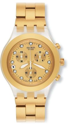 Swatch Men's SVCK4032G Stainless Steel Analog Watch