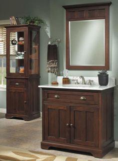 Sagehill designs, Somerset vanity w/ Carerra marble top $1520 from sinksfaucetsandmore.com
