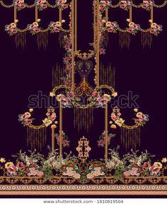 Textile Design, Fabric Design, Textiles, Design Seeds, Album Design, Botanical Flowers, Floral Border, Border Design, Flower Art