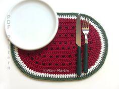 Watermelon Crochet Placemat Pattern  New Pattern by MariMartin, $4.00