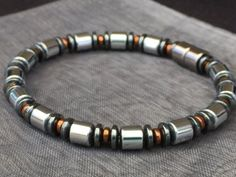 Contemporary Style Bracelet or Necklace Silver and Copper
