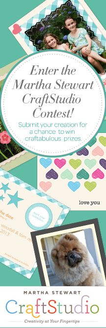 Enter Martha Stewartd CraftStudio App Pinterest Contest for the chance to win craftabulous prizes! Click to find out how to enter.