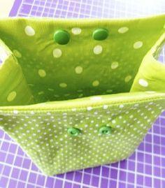 KINDERleicht und schön | Nähen mit Cherrygrön: Lunchbag, Utensilo, Kosmetikbeutel