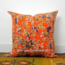 Indian Embroidered Decor Throw Pillow Cushions Extra Large Pillow