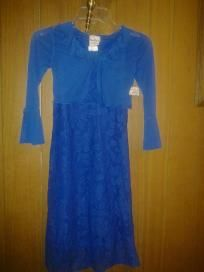 Exfrenions 4 kids v pretty lace dress two pic size 7. F 4 $14.99 newt