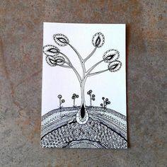 Sapling tree 5x7 art print by CrowsdanceDesigns, $8.00 USD