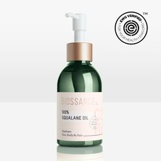 100% Squalane Oil - recommended by Song of Style. Hydrating. Animal friendly & all-natural.