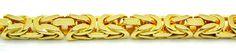 Foto 2, Königs-Kette massiv Neu Gelbgold, Goldkette in 14 Karat, K2840