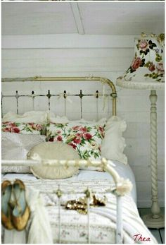 I have this exact cast iron bed so adorable.