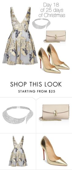 """""""Day 18 of 25 days of Christmas"""" by geekalert21 ❤ liked on Polyvore featuring Messika, Dolce&Gabbana, Notte by Marchesa and Christian Louboutin"""