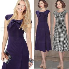 http://www.aliexpress.com/store/product/Tonval-Garment-2015-Women-Summer-Casual-Dress-Ladies-Bow-Houndstooth-Elegant-Party-Dresses-Girls-Office-Work/1757182_32321311073.html