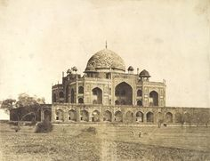 Humayan's Tomb,Delhi  1858 (from the Murray Collection)