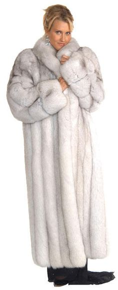 Blue Fox Fur Coat - I've always wanted one of these........until the Greenpeacers...