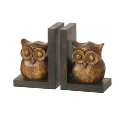 Set of 2 Owl Bookends