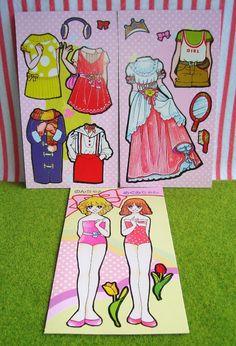 vintage japanese retro toys, toy, paper doll, dolls, fashion, eighties, 80s, kawaii, cute, clothes, shoujo, girl, wedding dress, princess.