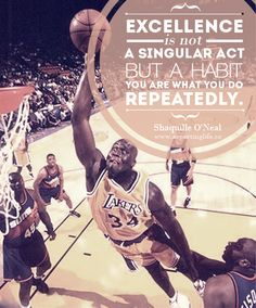 """Great pic of Shaq! Original caption said, """"Shaq as a LA Laker, while with the Lakers, he won three consecutive NBA Championships. Famous Sports Quotes, Sport Quotes, Shaquille O'neal, Nba Stars, Sports Stars, Slam Dunk, Nba Players, Basketball Players, Michael Jordan"""