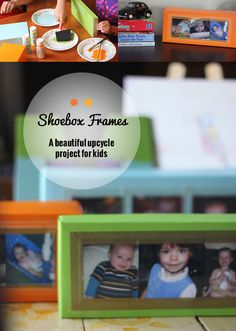 Shoebox lids can make best frames for kids to create!