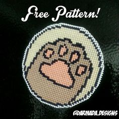 (10) Name: 'Embroidery : Pusheen Paw Cross Stitch