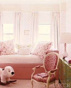 Daybed and Sister Parish wallpaper - until they are old enough to choose their own style, give your child their dream room....