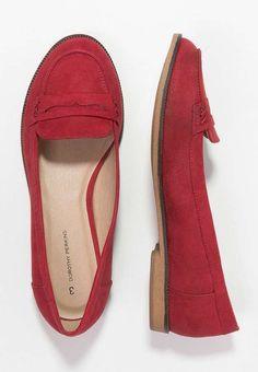 Zapatos rojos para el otoño-invierno 2015/2016: fotos de los modelos - Mocasines rojos Dorothy perkis