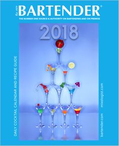 Now available on the front page of bartender.com the BARTENDER ® 2018 Daily Cocktail Calendar & Recipe Guide! 2018 BARTENDER ® including Patron XO Cafe, Angostura Bitters, The Irishman/Writers Tears, DISARONNO, Tanqueray TEN, Coco Lopez, Cinzano Vermouth, Tito's Vodka, The Singleton 12 Year Old, Gra'it Grappa, Barenjager Honey Liqueur, and Southern Comfort. To view the 2018 BARTENDER ® Calendar free of charge, simply visit bartender.com, give email to unlock content.