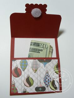Snowmanlover's Paperie & Wreath Shop: Stampin' Up! Letters to Santa~Gift Card Holder #5