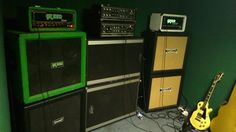 Rigs of Doom - Matamp Green Amp & Peavey and Earth Amp. Hiding Sun Rehearsal (Drone Doom Sludge)