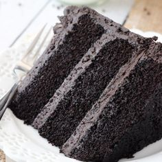 The best chocolate cake super moist and chocolatey and you only use