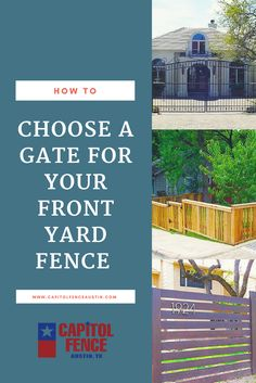 If you're looking for a gate for your residence, see some suggestions from our fence company in Austin