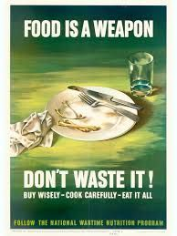 "This is a propaganda poster from World War 2. This is a primary source as it was a poster that was posted around the streets and such. This is a propaganda poster that is talking about the food consumption in World War 2. In World War 2 the army needed more food to be fed so they wanted food, so they started to tell people to eat less and donated food to the National Wartime Nutrition Program. There were poster like this and others but they had the same message ""Save food for the army/Navy"""