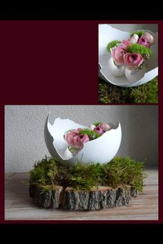 Prepare the finest paper mache, modeling clay or plaster egg for Easter! - Prepare the finest paper mache, modeling clay or plaster egg for Easter! Give a lecture there … - Fine Paper, Deco Floral, Egg Art, Ikebana, Paper Mache, Easter Crafts, Spring Flowers, Happy Easter, Easter Eggs