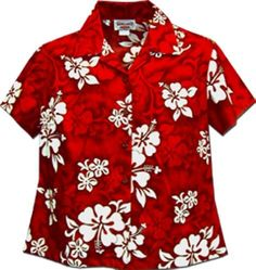 Ladies Red Hawaiian Shirts White Hibiscus, http://www.amazon.com/dp/B009JRGT78/ref=cm_sw_r_pi_awdm_FeeHtb10Y4BZ1