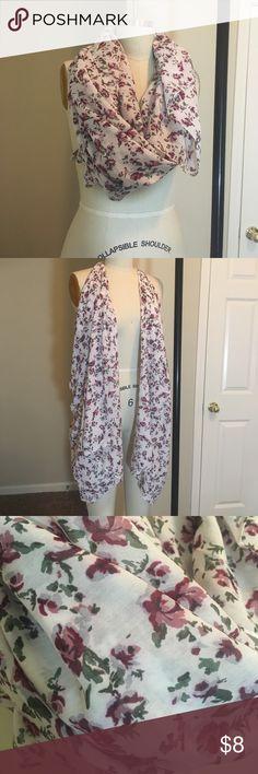 Versatile floral scarf NWOT Large floral scarf. Accessories Scarves & Wraps