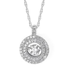 Boston Bay Diamonds Brilliance in Motion 14k Hold 3/8ct TDW Floating Diamond Double Circle Necklace