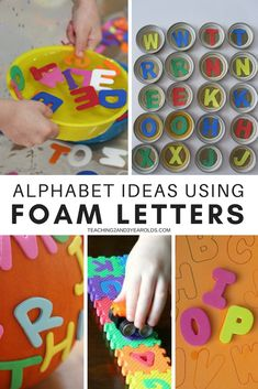 It's super easy to put together literacy activities using foam letters. Toddlers and preschoolers love to handle them, and they come in a variety of sizes, making them even more versatile! #letters #alphabet #abc #learning #skills #preschool #toddler #2yearolds #3yearolds #teaching2and3yearolds Emergent Literacy, Preschool Literacy, Alphabet Activities, Literacy Activities, Preschool Activities, Toddler Preschool, Preschool Alphabet, Children Activities, Teaching The Alphabet