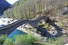 Val Verzasca, Canton Ticino, CH Canton Ticino, Covered Walkway, Pathways, Garden Bridge, Bridges, Switzerland, Beautiful Places, Outdoor Structures, America