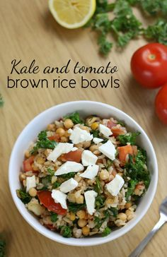 Kale and tomato brown rice bowls - Amuse Your Bouche