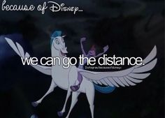 Because of disney. I love this song