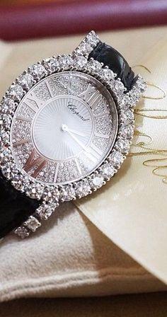 Diamond Bracelets, Cuffs & Bangles : Chopard watch~ Billionaires Only~vh - Buy Me Diamond G Shock, Patek Philippe, Latest Women Watches, Rolex, Beautiful Watches, Diamond Are A Girls Best Friend, Luxury Watches, Jewelry Watches, Women's Watches