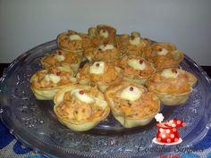 Tortinhas de palmito e requeijão com massa de pastel - Cozinha Simples da Deia