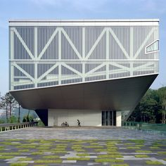 rem-koolhaas-architecture-buildings-The cantilevered Seoul National Museum Modern Landscape Design, Landscape Architecture Design, Classical Architecture, Modern Landscaping, Library Architecture, Innovative Architecture, Rem Koolhaas Architecture, Cantilever Architecture, Beautiful Buildings