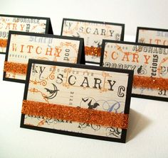 Halloween Favors  Halloween Treat Bags and by AcarrdianCards, $12.00