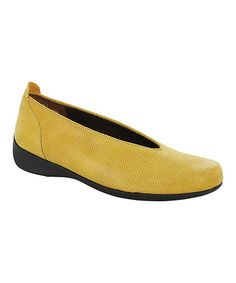 Take a look at this Yellow Ballet Slip-On Shoe - Women by Wolky on #zulily today!